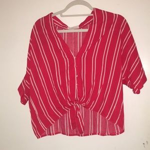 VICI red and white shirt